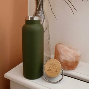 Soulsister Tribe shop duurzame drinkfles mat-groen productfoto
